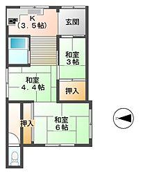 [一戸建] 静岡県三島市西若町 の賃貸【静岡県 / 三島市】の間取り