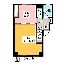サンライズ銀杏[1階]の間取り