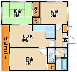 ロイヤル神戸舞子台[1階]の間取り