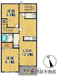 コーエー アビタシオン[2階]の間取り