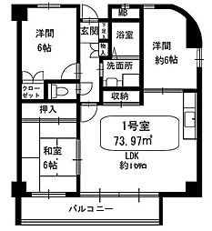 アールノア平尾山荘[3階]の間取り
