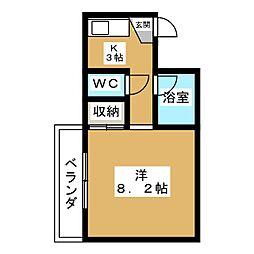 エルデ桃山[2階]の間取り