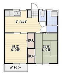 コーポ今澤[2階]の間取り