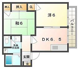 タウンコート守口[1階]の間取り