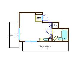 ライオンズマンション関内第5[8階]の間取り