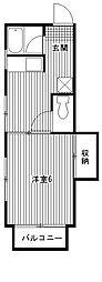 三浦荘[201号室]の間取り