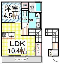 カーサ上松[2階]の間取り