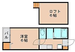 ピュア県庁北弐番館[2階]の間取り