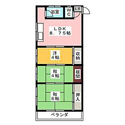 ドルフ香呑II[3階]の間取り