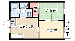 愛知県名古屋市南区平子2丁目の賃貸アパートの間取り