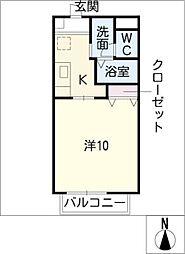 エルハウス新鵜沼台[1階]の間取り