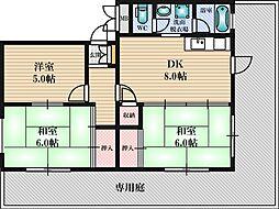 ハイツヤマグチ[1階]の間取り