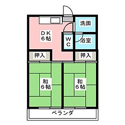 レイクコート冨塚[2階]の間取り
