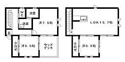 [一戸建] 静岡県浜松市中区向宿2丁目 の賃貸【/】の間取り