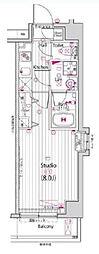 ガーラ・ステージ練馬[1F-B3type号室]の間取り