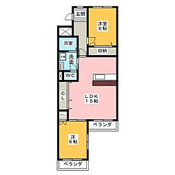 プルミエ小島[2階]の間取り