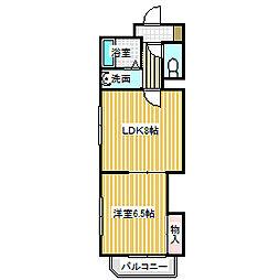 愛知県名古屋市中川区供米田3の賃貸マンションの間取り