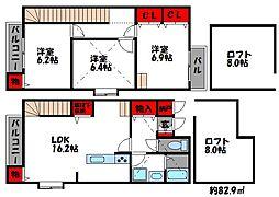 クランベリーハウス[2階]の間取り