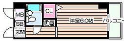 ライオンズマンション野田[4階]の間取り
