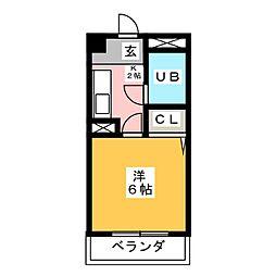 HKビル第2[1階]の間取り