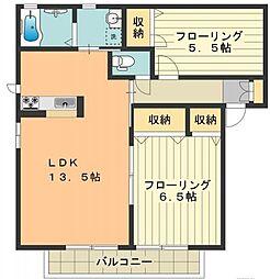 シャーメゾン石川D[101号室]の間取り