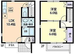Casa Famille B 1階2LDKの間取り
