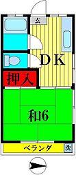 メゾンドハナシマ[2階]の間取り