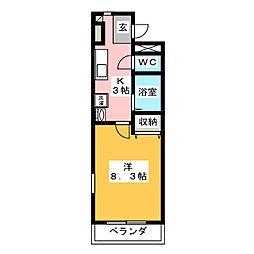 ラ・クレ[1階]の間取り