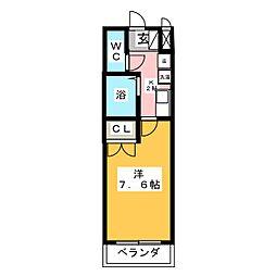 エクセランス御供所2[1階]の間取り