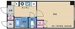 ロイヤル江坂[501号室]の間取り