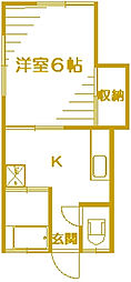 静明荘2[1階]の間取り
