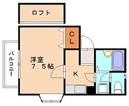 サンシャイン篠栗[1階]の間取り