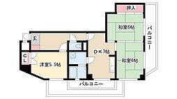 愛知県名古屋市瑞穂区田辺通1丁目の賃貸マンションの間取り