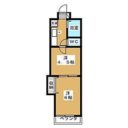 シャンポール御所南[3階]の間取り