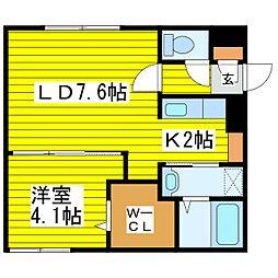 北海道札幌市東区北二十一条東18丁目の賃貸マンションの間取り