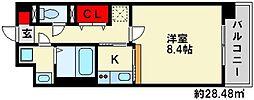 シャロームミキ[1階]の間取り