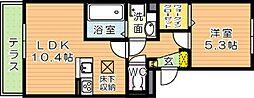 仮)D-room三ケ森[1階]の間取り