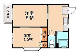 ラベンダー田島[2階]の間取り