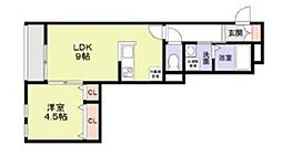 JR中央本線 中野駅 徒歩9分の賃貸アパート 1階1LDKの間取り