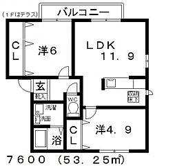 メゾンルミエール[B202号室号室]の間取り
