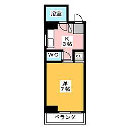 アリエ汐田I[7階]の間取り