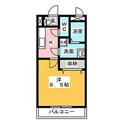メゾンモンマルトル2[4階]の間取り