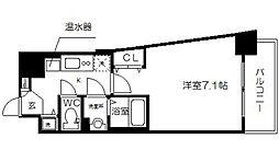 アスヴェル大阪城WEST2[6階]の間取り