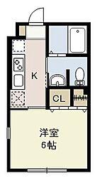 埼玉県さいたま市浦和区元町1丁目の賃貸アパートの間取り