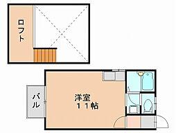 ルート月隈[2階]の間取り