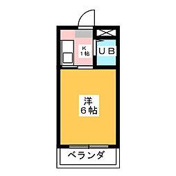 プレズ名古屋庄内通[4階]の間取り