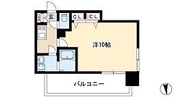 プレサンスTHE栄 6階1Kの間取り