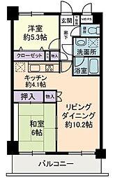 神奈川県横浜市都筑区見花山の賃貸マンションの間取り