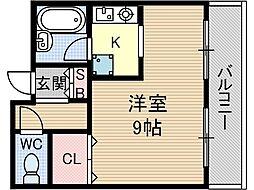プレッジハイツ[2階]の間取り