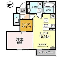 兵庫県姫路市阿保の賃貸アパートの間取り